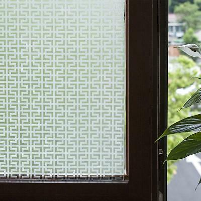 Window Film Vinyl Non-Adhesive Modern Etched Glass Window Clings for Bathroom