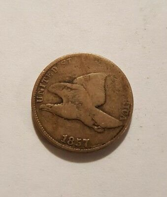 1857 Flying Eagle cent(FREE SHIPPING)