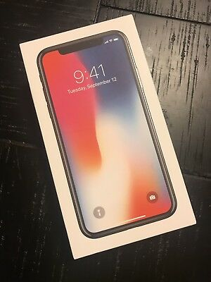 Apple Iphone X Box (Only The Box) 64GB Silver Authentic Box No Accessories/Phone