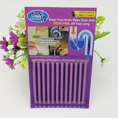 12/Pack Sani Sticks Keeps Drains And Pipes Clear And Odor As Seen On TV best