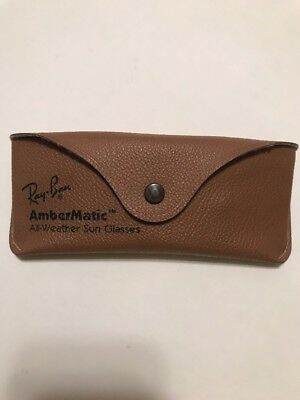 Vintage Ray-Ban AmberMatic All Weather Sun Glasses Sunglasses Case Only