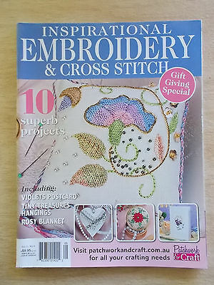 Embroidery & Cross Stitch Vol 21 #4~Violets~Rosy Blanket~Xmas~Elizabethan...