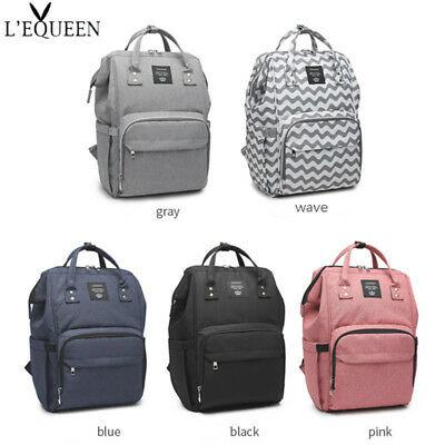 LEQUEEN Diaper Bag Multi-Function Waterproof Travel Backpack Mummy Nappy Bags