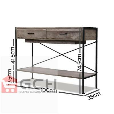 Side Entry Timber Console Stand Desk Wooden Hallway Display Table Artiss - AU