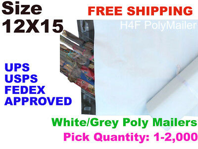 200 12x15 Poly Mailers Shipping Envelopes Self Sealing Mailing Bags