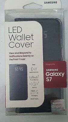 Genuine Samsung - LED View Cover for Samsung Galaxy S7 - Black   BRAND NEW !!
