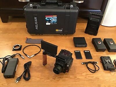Red Epic Dragon X 6K Camera W/ready 2 Shoot, Lcd,2 Redbricks,256Gb,outrigger