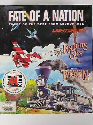 """Vintage Computer Games """"Fate of a Nation"""" Three of the Best from Microprose 3.5"""""""