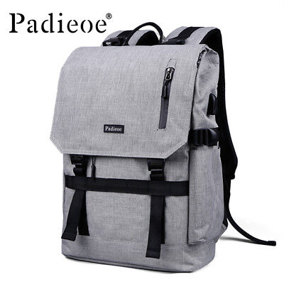 Padieoe Men Waterproof Nylon Backpack 15 Inches Laptop Bag Notebook School Bags