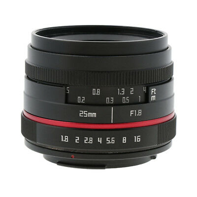 Fixed Lens Manual Focus for Canon EF-M Mount Mirrorless Camera 25mm F1.8