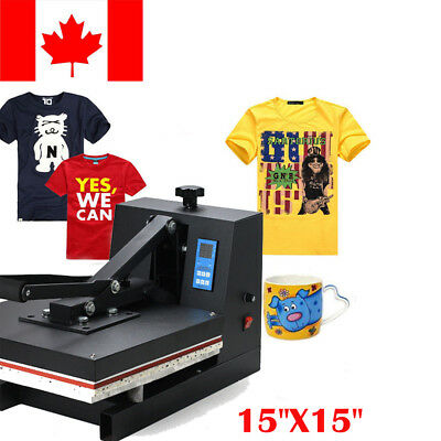"CANADA 15""x15"" Heat Press Transfer Digital Clamshell T-Shirt Sublimation Machine"