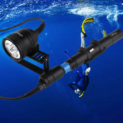 Brinyte 3000LM 3 LEDs Underwater 150M Scuba Diving Flashlight Torch Light