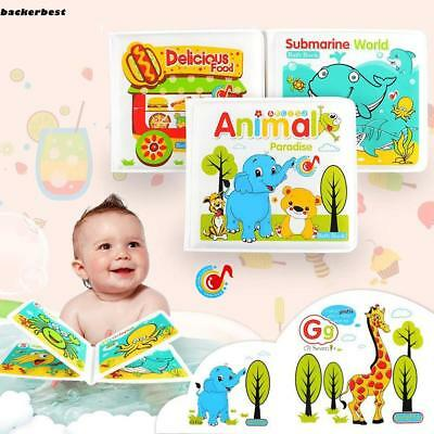 Waterproof Floating Bath Books for Toddlers Kids Babies Bath Time Bathtub LL