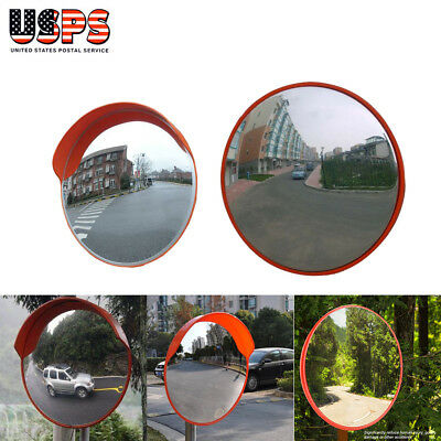 30cm/45cm Wide Angle Security Curved Convex Road Mirror Traffic Driveway Safety