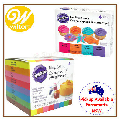 WILTON ICING COLOURS 12 Set Neon Combo Cake Decorating Food ...