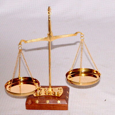 Vintage Brass Weighing Scale Balance Justice Law Scale Decoration Gift Item