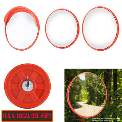 30/45cm Wide Angle Security Curved Convex Road Traffic Mirror Driveway Safety US
