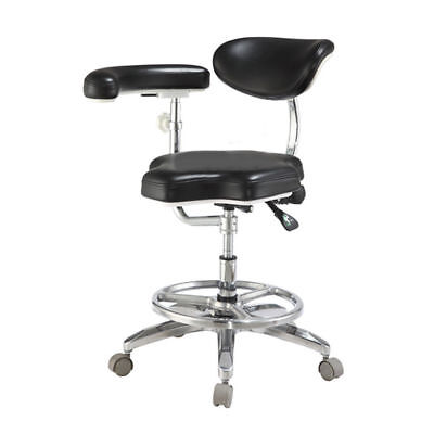 Dental Medical Doctor Stool Mobile Dentist Seat Chair Deluxe with Armrest QY90B