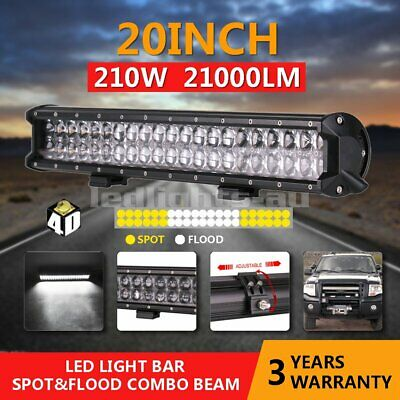 5D+ 20inch Cree LED Light Bar Flood Spot Combo Offroad Work Driving 4WD Truck