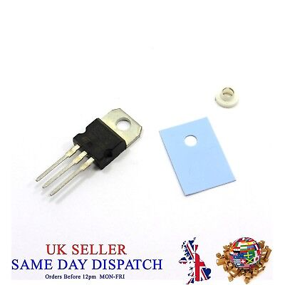 TO-220 MOSFET N-Channel Transistor + Transistor Sheet + Nylon Ring Washer Pad