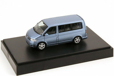 1:87 VW T5 Multivan Facelift Blue Motion Glacier-Blue Bleu Volkswagen Dealer-Ed