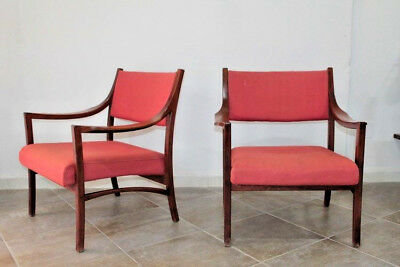 pair of danish armchairs 1960s modernism design