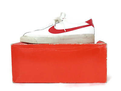 sale retailer 28fa5 dee97 Vintage OG 80s Nike Bruin White Leather Red Swoosh Sneakers Mens s10 Marty  McFly