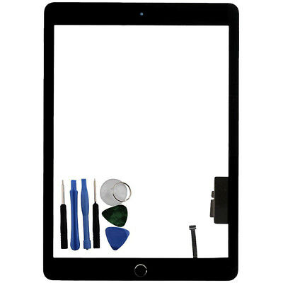 For iPad 5 Gen A1822 A1823 Touch Screen Digitizer Glass Home Button Black + Tool