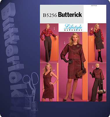 Butterick Pattern 5256, Sizes 14-22, EASY Jacket, Dress, Blouse & Trousers, New