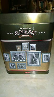 COLLECTABLE ANZAC BISCUIT TIN LIMITED EDITION 1915 - 2015 100 years Gallipoli
