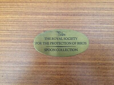 VINTAGE RSPB Spoon Ltd Edn Collection 12 English solid Silver Spoons