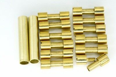 Knife-Handle Hardware 12 Brass Corby Rivets 4 Lanyard Tubes knife Making Supply