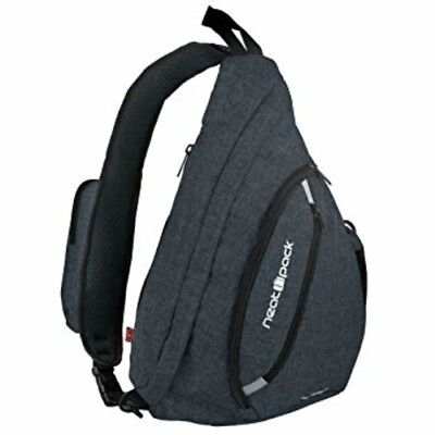 Canvas Sling Bag Travel Backpack Wear Over Shoulder or Crossbody with RFID for W