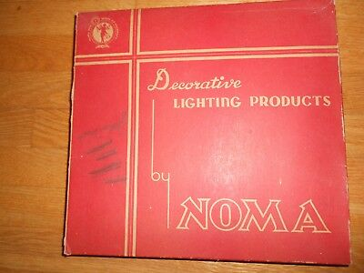 Working antique all rubber outdoor Christmas lights by NOMA with MAZDA Lamps