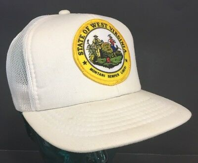 West Virginia WV Montani Semper Liberi Seal Mesh Snapback Trucker Patch Hat B24