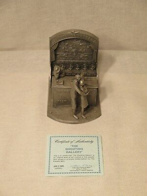 The Franklin Mint The Shooting Gallery Pewter 1980 William Shoyer