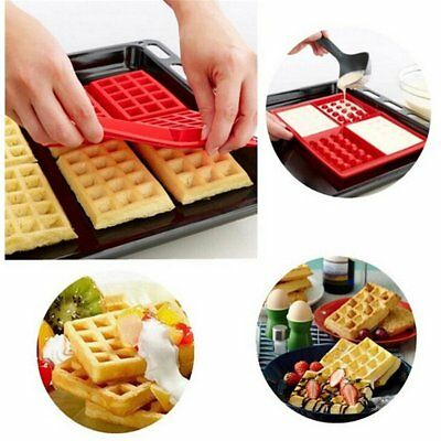4 Square Waffle Mould Silicone Cake Mold Kitchen Cake Tool Home Mould BM