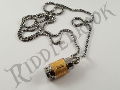 Stainless Steel Stash pendant and chain pill box necklace security hidden
