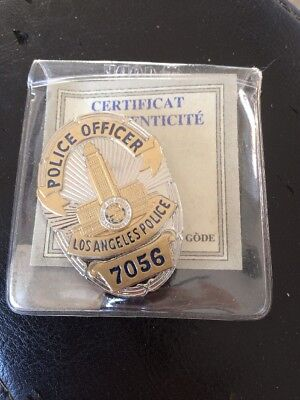 Ancien Badge Police Officer Los Angeles City 7056 Edition Gode