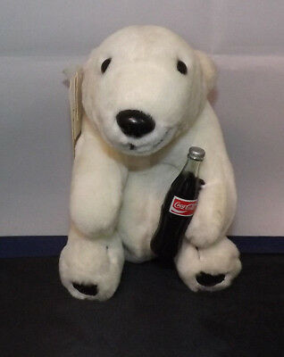 Coca-Cola 1993 Plush Collection Polar Bear with Bottle of Coke