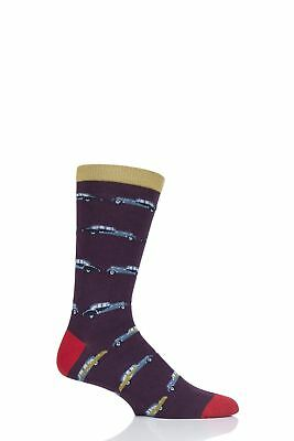 Mens 1 Pair Thought Classic Car Bamboo and Organic Cotton Socks