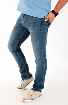 Mens Ex- Lee Luke Blue Slim Tapered Fit Jeans RRP £90 (Seconds)  L187