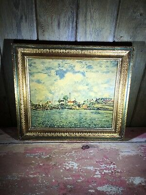 Vintage Florentine Wood Italy Italian Picture Photo Frame Wooden Gold Gilt Shell
