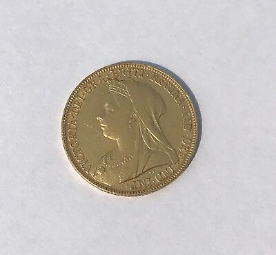 Full British Sovereign, 1898 Queen Victoria Old Head Gold Coin