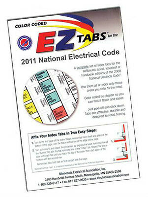 2011 Color Coded EZ Tabs for NEC Code Book NFPA  Free & Fast Shipping +extras!
