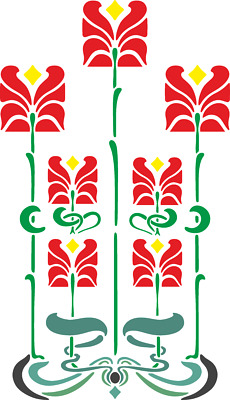 Glasgow School Inspired Stencil Reusable wall art craft 350 mic Mylar  FLORA033