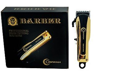 Professional High Performance Cordless Barber Hair Clipper Haircut Kit