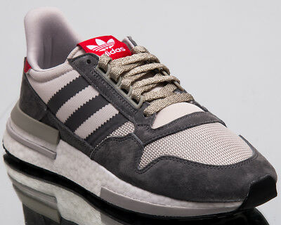 info for a6e62 98478 adidas Originals ZX 500 RM Men New Grey White Scarlet Lifestyle Sneakers  B42204