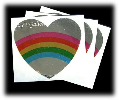 Vintage RARE Retired Hambly Rainbow Hearts Shiny Stickers Lot 3 Modules