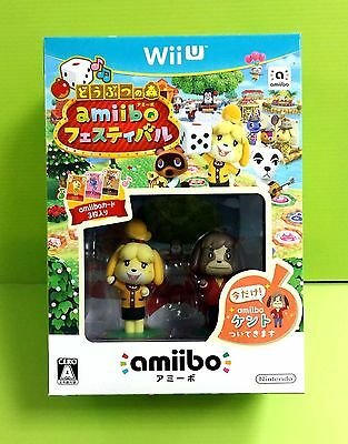 NEW Nintendo Wii U Animal Crossing amiibo Festival w/ Bonus JAPAN Japanese game